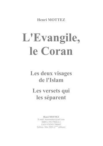 Télécharger au format PDF - L'Evangile, le Coran