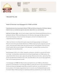PRESSEMITTEILUNG Robert & Horst baut neue Kampagnen für ...