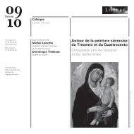 Autour de la peinture siennoise du Trecento et ... - Musée du Louvre