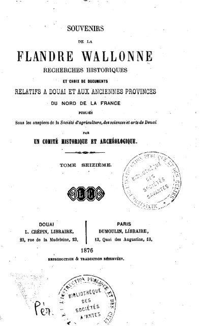 Souvenirs De La Flandre Wallonne Recherches Historiques