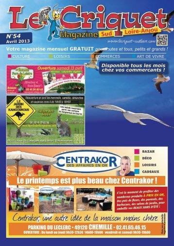 Télécharger ce document (imprimable) - Le Criquet Sud Loire