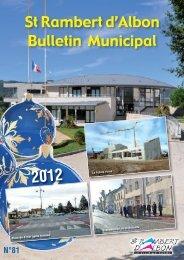 Retrouvez le bulletin municipal n° 81 - Saint Rambert d'Albon