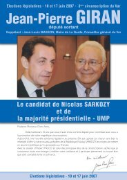 Elections législatives - 10 et 17 juin 2007 - Jean-Pierre Giran