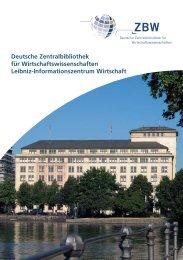 Jahresbericht 2007 (pdf) - ZBW