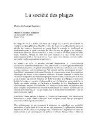 La société des plages (Jean-Didier Urbain) - Société des Gens de ...