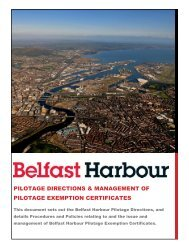 Revised Pilotage Directions & Management of ... - Belfast Harbour