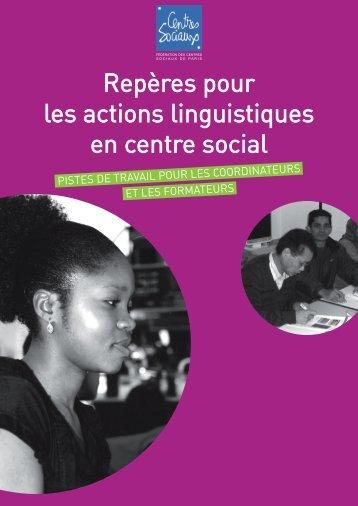 Repères pour les actions linguistiques en centre social