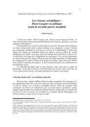 Les réseaux scientifiques : Henri Laugier en politique ... - HistCNRS