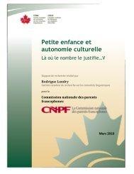 Petite enfance et autonomie culturelle - La Commission nationale ...