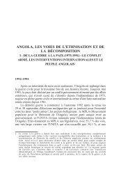 angola, les voies de l'ethnisation et de la décomposition - Lusotopie