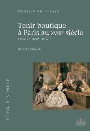 Tenir boutique à Paris au xviii e siècle - GHAMU
