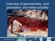 Overview of geochemistry, acid generation, and metal solubility