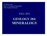 SlideShow - Department of Geology and Geography - West Virginia ...