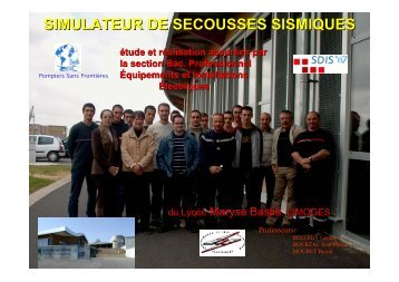 SIMULATEUR DE SECOUSSES SISMIQUES