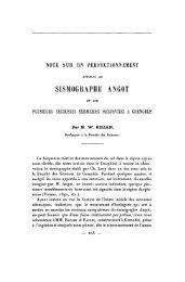 SISMOGRAPHE ANGOT - Revue de géologie alpine