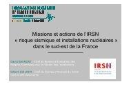 Missions et actions de l'IRSN - Installations nucléaires et risque ...
