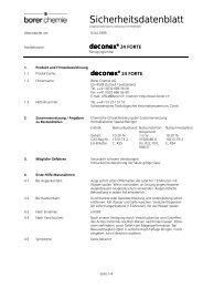 Sicherheitsdatenblatt - Zefa-Laborservice