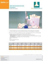 Spritzenvorsatzfilter - Zefa-Laborservice