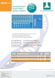 PCR-Röhrchen Sonderaktion - Zefa-Laborservice