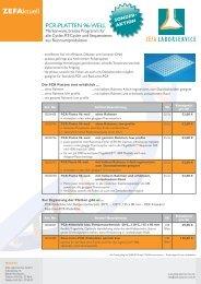 PCR-Platten Sonderaktion - Zefa-Laborservice