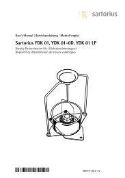 Sartorius YDK 01, YDK 01-0D, YDK 01 LP - Catalogus.de