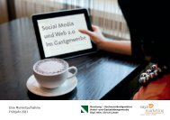 Social Media im Gastgewerbe - Vaya/marketing