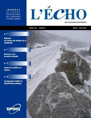 Télécharger - Syndicat professionnel des ingénieurs d'Hydro-Québec
