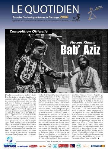 Bulletin N°5 - Journées Cinématographique de Carthage