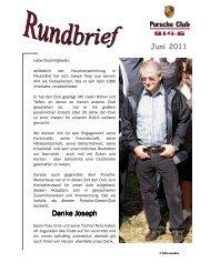 Juni 2011 Danke Joseph Danke Joseph - Porsche 914-6 Club e.V.