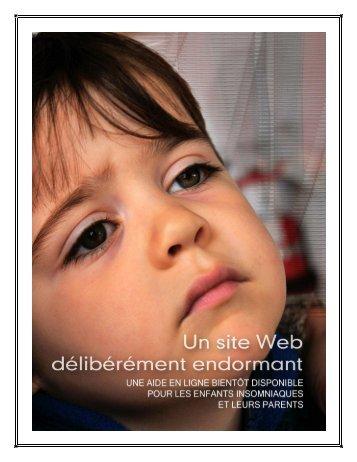 Un site Web délibérément endormant - Fondation Sommeil