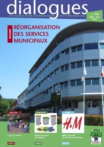réorganisation des services municipaux - Ville de Taverny