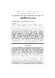 le portfolio au service des compétences transversales - admee 2012 ...