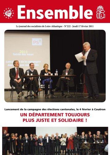 Un département toUjoUrs pLUs jUste et soLidaire ! - Fédération de ...