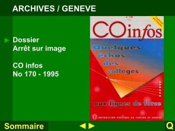 Dossier Arrêt sur image - Espace d'échanges pédagogiques