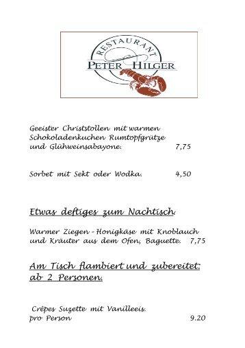 Geeister Christstollen mit warmen ... - Restaurant Peter Hilger