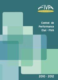 Contrat de performance 2010-2012 - Fiva