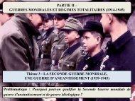 PARTIE 2 – Thème 3 – la 2nde guerre mondiale - le sav de la salle 16