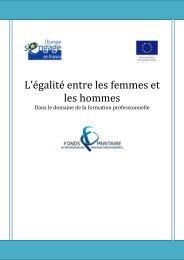 Présentation : L'égalité entre les femmes et les hommes
