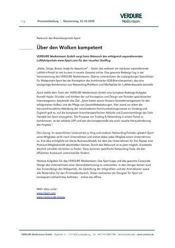 Über den Wolken kompetent - VERDURE Medienteam GmbH