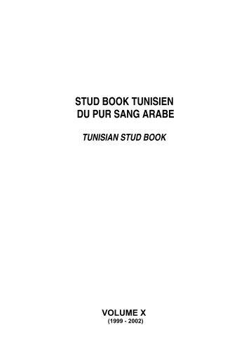 STUD BOOK TUNISIEN DU PUR SANG ARABE - fnarc