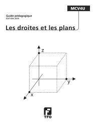 Les droites et les plans - TFO