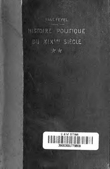 Histoire politique du XIXe sicle