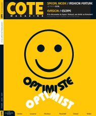 SPECIAL MODE / fASHION FEATURE EVASION ... - Cote Magazine