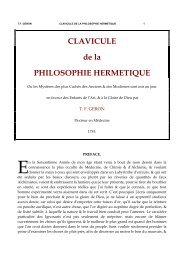CLAVICULE de la PHILOSOPHIE HERMETIQUE