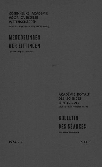 (1974) n°2 - Royal Academy for Overseas Sciences