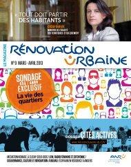 Magazine Rénovation Urbaine n° 9 mars-avril 2013 - pdf - Anru