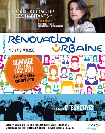 Magazine Rénovation Urbaine n° 9 mars-avril 2013 - pdf - Anru