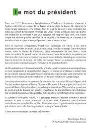 Programme - Orchestre Sostenuto