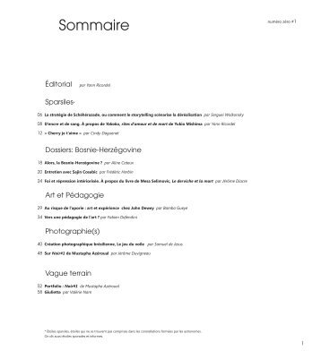 PDF - 7.1 Mo - Numéro Zéro #1