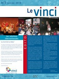 E DITO - Haute Ecole Léonard De Vinci